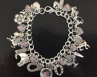Horse Charm Bracelet, Equestrian, Horse Riding, Rider, Jumper, Jewelry, Jewellery, Gift