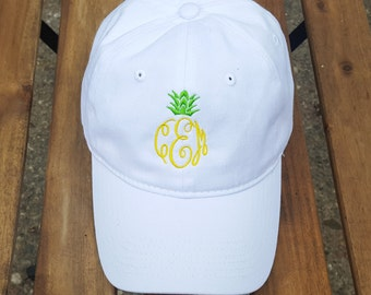 Ladies Monogrammed Pineapple Baseball Cap  | Multiple Colors