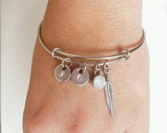 Bracelet with charm | charm bracelet | Personal text