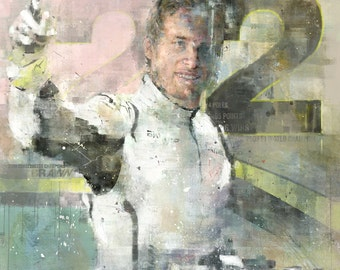 Jenson Button 2009 - Limited edition print