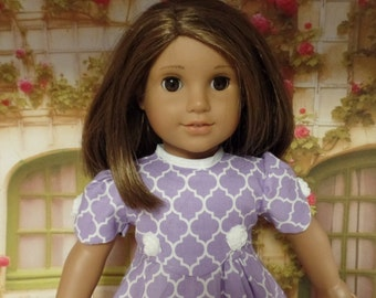 """Pretty in Lavender  Dress--for 18"""" Dolls--Shown on my American Girl Doll Kit"""