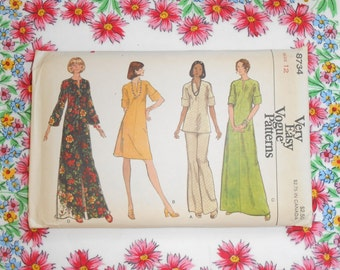 Very Easy Vogue Sewing Pattern #8734 - Size 12 Dress Top & Pants