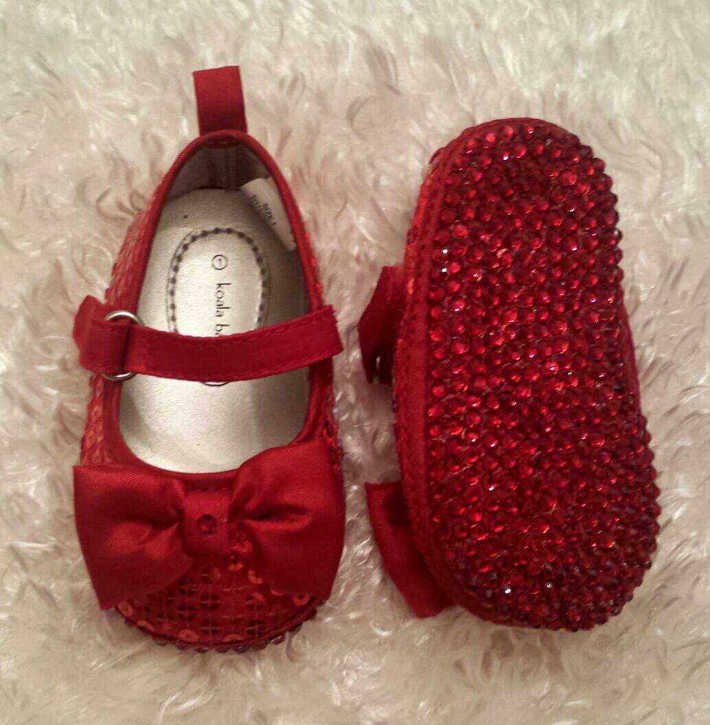 Red Baby Shoes Red Rhinestone Sole Baby Shoes By