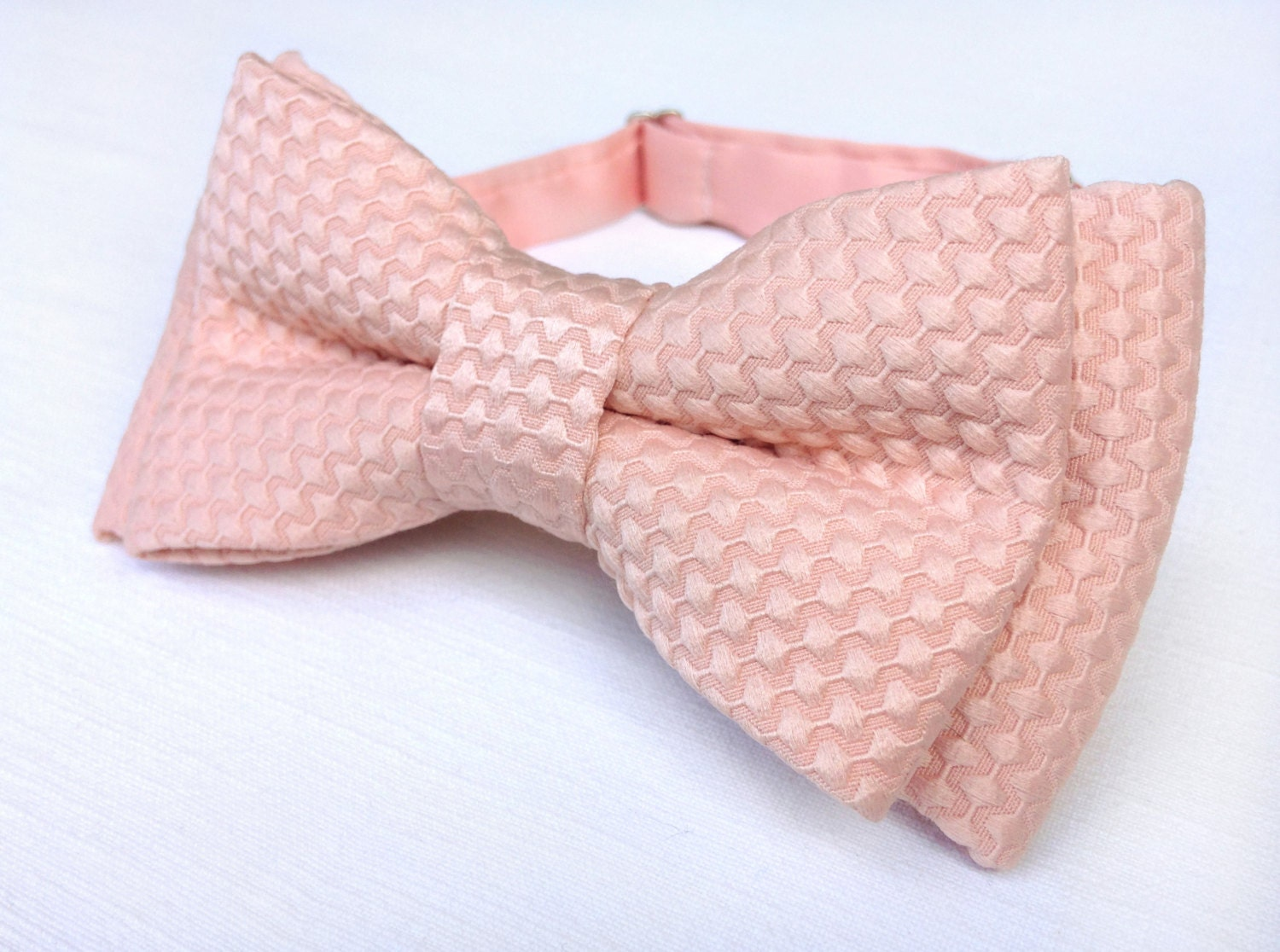 checkered blush pink bow tie textured blush by kristinebridal