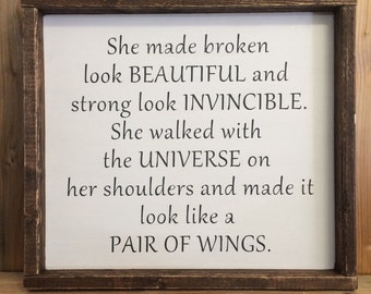 Inspirational Quote for Women - Motivational Sign - Gift for Women - Gift for Women - Strong Women Quote - Inspirational Wall Art - Decor