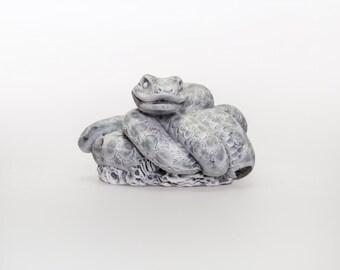 Handmade Statuette Snake made of Marble