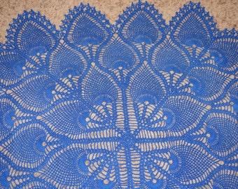 Crochet tablecloth/ topper/centerpiece, square tablecloth, square centerpiece, pineapple tablecloth, pinapple doily, square doily