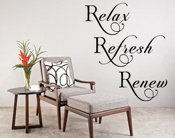 Relax Decal Etsy - Wall decals relax