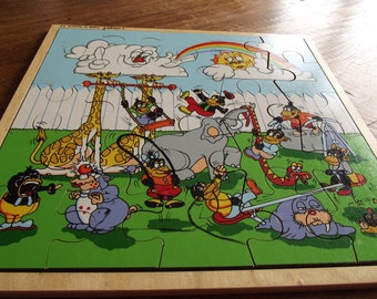 wooden jigsaw puzzle by Simplex. Made in Holland 1950s