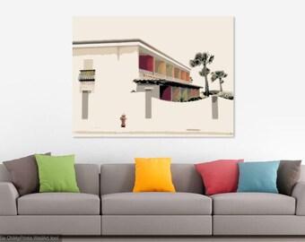 Beach House Canvas or Print