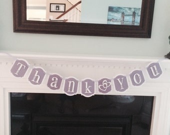 Thank you banner, Gift Table Banner, Wedding Thank You Banners, Wedding signs, Photo booth, thank you sign, prop
