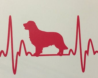 Golden Retriever Car Truck Window, laptop, etc vinyl decal. Your Choice of color 8 inches wide