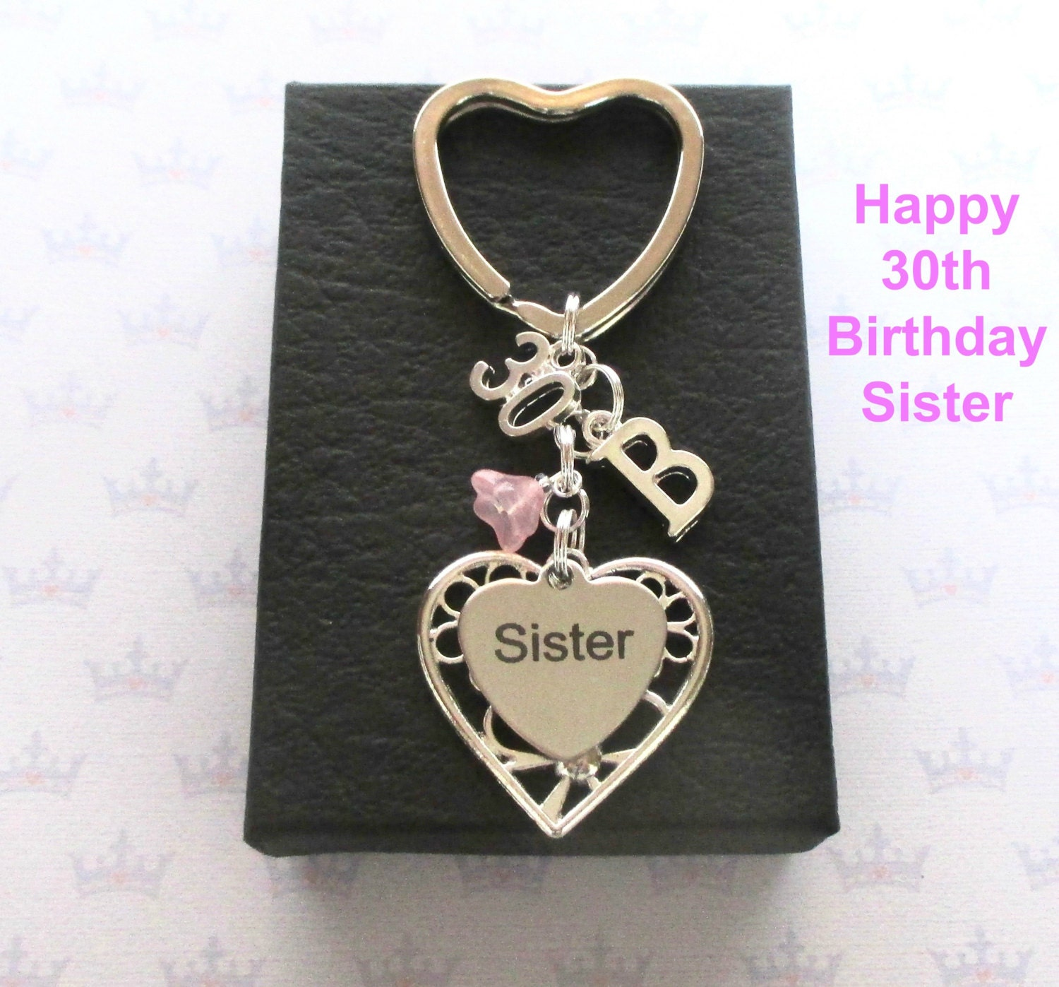 Sister 30th Birthday Gift 30th Keychain Sister Gift