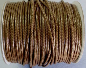 5 Yards or More of Faux Snake Skin Round Cord, 2 mm