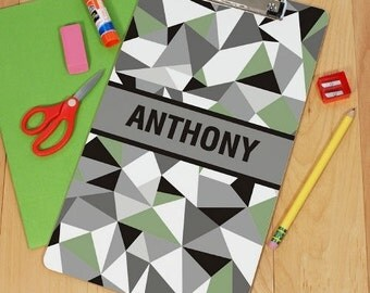 Personalized Jagged Squares Clipboard