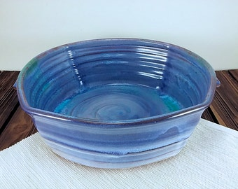pottery casserole dish,  Blue and teal Baking Dish ceramic casserole baker, baking dish, ceramic baking dish pottery baker baker pottery