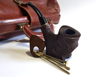 """Pipe. Wooden pipe. Tobacco bowl. Smoking bowl. wood smoking bowl. Wood Tobacco Smoking Pipe. Pipes """"Stump"""" Hand carved pipe"""