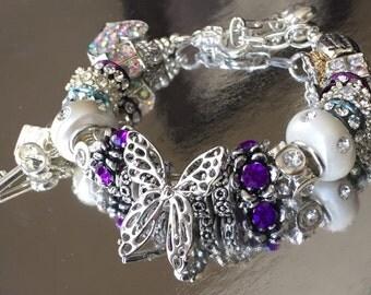 Butterfly charm bracelet.