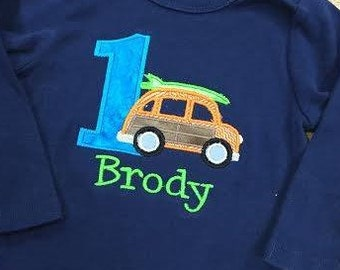 Personalized Surf Birthday Shirt
