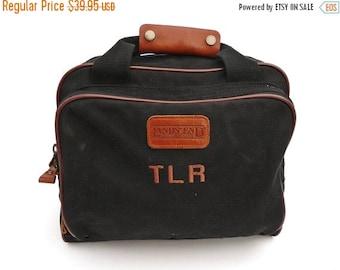 20% OFF SALE Lands End Canvas Briefcase Laptop Bag Carry on Messenger Black
