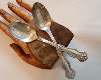 World's Biggest Chair souvenir spoon, vintage spoon, souvenir spoon, engraved spoon, silver plated spoon, biggest chair