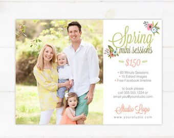 Spring Mini Session Template - Instant Download 007