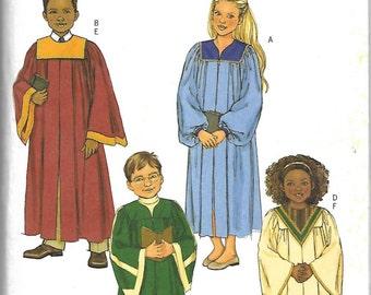 Butterick B4542 Pattern NEW Children Choir Robe
