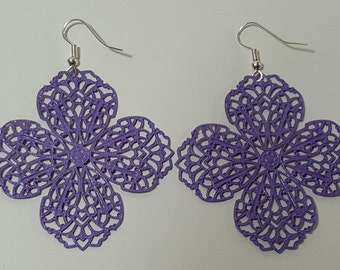 Lavender Filigree Earrings