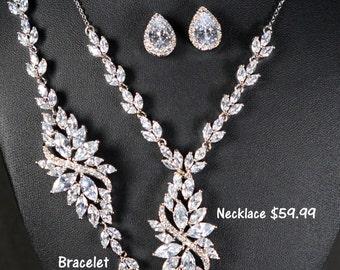 Wedding Jewelry Bridesmaid Gift Bridesmaid Jewelry Bridal Jewelry  tear Drop Earrings Cubic Zirconia dangle Earrings ,bridesmaid gift