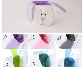 Easter Bunny Basket-- Personalized Easter Basket -- Bunny Ears  Bucket  -- Children's Easter Bucket -- Easter Pail personalized -- SALE