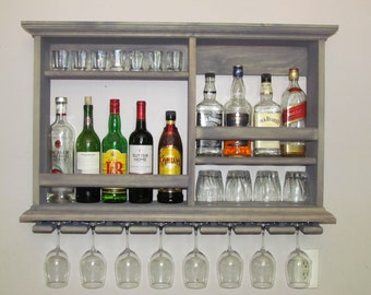 Mini bar wall mounted mini bar walnut stain 3 39 x 2 39 for Mini bar wall cabinet