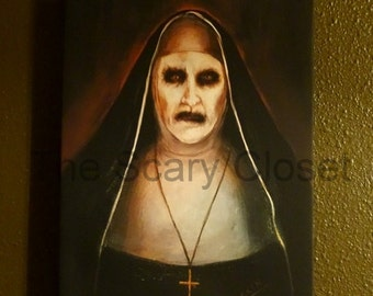 The Conjuring 2 Valak Nun 1:1 Replica Painting