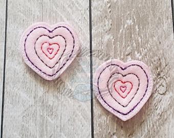 Cute Heart Hair Clip set
