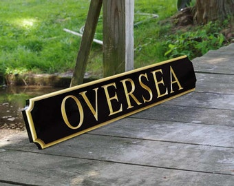 Custom Carved Quarterboard sign - Add your name