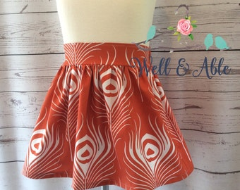 Orange feather skirt