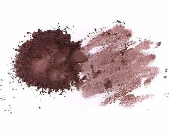 THUNDER STORM Matte Plum Eye Shadow - Pure Mineral Eye Color - Natural Mineral Makeup - Dark Plum Eyeshadow - Gluten Free Vegan