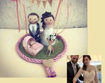 Custom cake topper figurines wood wedding wedding cake