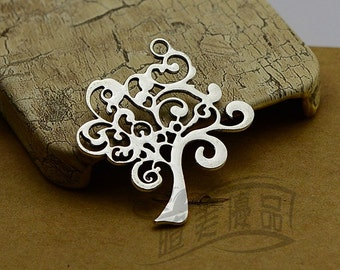 5pcs 42x37mm Antique Silver Tree of Life Charms Pendants