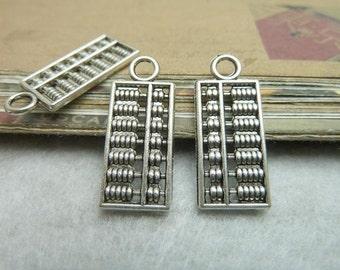 25pcs 10x24mm Ancient Silver Abacus Charm Pendant