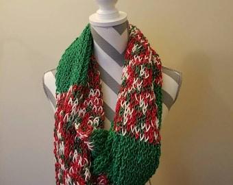 Christmas Sparkle Knit Scarf