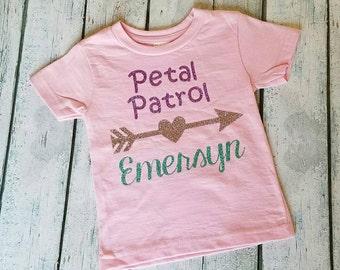 Petal Patrol Shirt / Flower Girl Shirt / Wedding / Flower Girl Gift / Petal Patrol gift