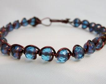 "Into the Blue - ""Azure"" - Handmade Bracelet - Free Domestic Shipping!"