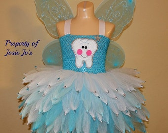 Tooth fairy costume/ fairy costume/ Tooth fairy tutu/ tinker bell tutu/ tinker bell costume/ Halloween costume/ tooth fairy dress