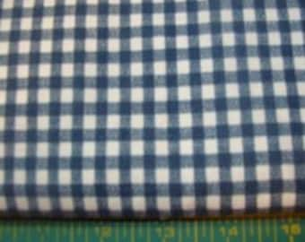 Blue and White Checker Cotton fabric.