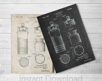 Cocktail Shaker Printables, Bar Wall Art, College Room Decor, Drink Mixer, PP0204