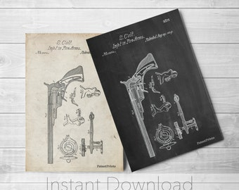 Colt Paterson Gun Printables, Pistol, Revolver, Gun Enthusiast, Gun Art, PP0409