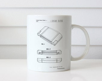 Nintendo 64 Game Cartridge Patent Mug, Nintendo Decor, Gamer Gift, Game Room Mug, PP0451