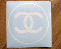 CHANEL  Vinyl Decals .CHANEL logo stickers.