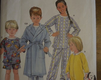 Simplicity 5874, sizes 1/2 - 2, toddler, pajamas, sewing pattern, craft supplies, boys, childrens, girls, sleepwear
