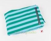 Nosh Green & Blue Stripe | Organic Jersey | 1.25 yd